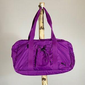 Puma Purple Gym Bag Or Purse